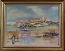 Robert Docherty, oil on canvas, St Peter's Port, signed and dated '95, 44 x 59cm