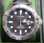 A gentleman's modern limited edition (583/1000) Citizen Eco Drive Royal Marine Commando wrist watch,