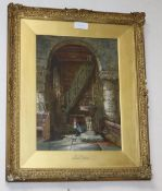 Margaret Rayner (1837-1920), watercolour, 'The Belfry', signed, 41 x 30cm