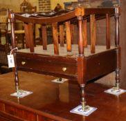 A reproduction mahogany four division Canterbury, W.48cm, D.35cm, H.48cm