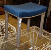 A Elizabeth II Coronation stool, W.47cm, D.33cm, H.47cm