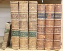 Wilson's Tales of the Borders, 6 volumes in 3, Cassells Illustrated Shakespeare in 3 volumes and