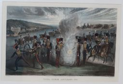 Grant after Jones, coloured aquatint, 'Royal Horse Artillery 1843', 27 x 39cm
