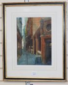 Alexander Creswell (1957-), watercolour, The Jamaica Winehouse, signed, 37 x 27cm