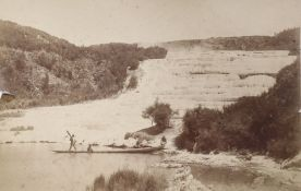 An early 20th century photograph of New Zealand Pink Terrace, L. Rotomahana and an album of views,