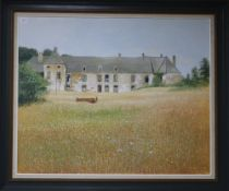 Chris Wild (20th C.), oil on board, Chateau Kernabas, Brittany, signed, 85 x 105cm