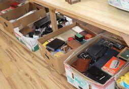 A large quantity of camera equipment
