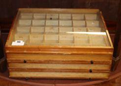 Abel Morrell Ltd, a glazed collector's cabinet, W.44cm, D.38cm, H.18cm