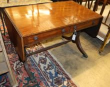 A Regency mahogany sofa table, stamped W. Buckland inside right handside drawer. c.1825, W.100cm,