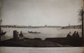 J. W. Edy after Clara Meyer, pair of aquatints, View of the port and city of Constantinople taken