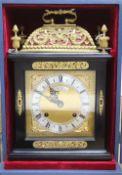 An F W Elliott Golden Jubilee bracket clock, Limited Edition, with certificate No.21 of 100, c.1973
