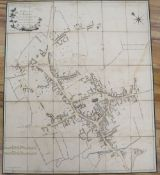 A leather cased plan of Wellingborough, dated 1803