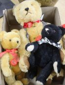Three Herman bears, one musical, one 20, one black