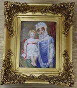 Victorian School, watercolour on ivory, miniature portrait of Mary, daughter of Rev. Richard Bullock