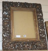A 1920's carved giltwood frame