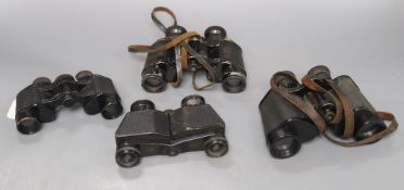 Three pairs of Zeiss binoculars and another