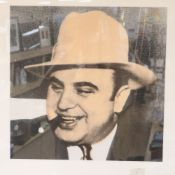 Steve Kaufman (American, 1960-2010), screenprint in colours, Al Capone, signed and numbered 20/50