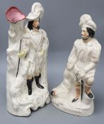 Two Staffordshire pottery Highland figures