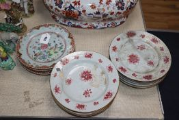 A group of 18th century Chinese export plates