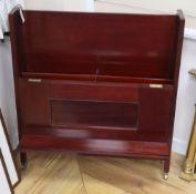 An Edwardian folio stand, W.87cm, D.16cm, H.98cm