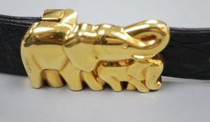 A Cartier elephant clasp belt