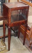 A Chinese hardwood tall open cabinet, W.50cm, D.38cm, H.110cm
