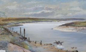 Philip Rickman (1891-1982), watercolour, Storm Clouds over Cuckmere Haven, Nr. Alfriston, signed and