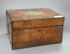 A Victorian walnut brass-mounted box