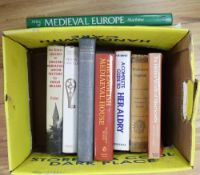 A collection of Medieval History & buildings reference books: An Introduction to English Medieval
