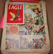 A collection of Eagle comics and an annual