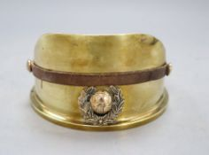 A Trench Art Army cap ashtray marked 1916, diameter 13cm