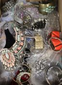 A large group of assorted costume jewellery.
