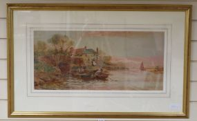 Stuart Lloyd (1875-1929), watercolour, The Ford at Arun, signed and dated 1911, 29 x 63cm