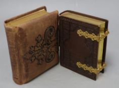 Two Victorian vacant photograph albums