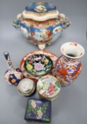 A quantity of mixed Oriental ceramics, tallest 28cm