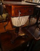 An early Victorian mahogany work table, W.53cm, D.38cm, H.72cm