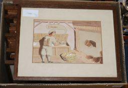 English School, early 20th century, thirteen gouaches of 'The Baker's Dozen', 14.5 x 22cm