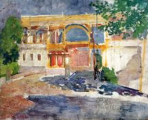 § Hendrik Jan Wolter (1873-1952)oil on board'Construction on the Via Dell' Impero, Rome' c.