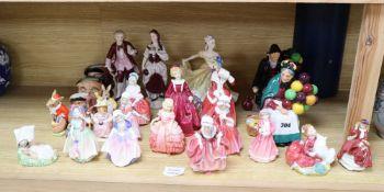 A group of Royal Albert Beatrix Potter, Royal Doulton character jugs, Royal Doulton figures, etc.