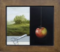 Alan Macdonald (1962-), oil on board, 'Lifeline II 2000', label verso, 33 x 40cm