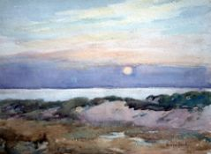 Andrew Gamley (?-1949)watercolour,Coastal landscape,signed,28 x 38cm
