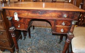 A Continental mahogany side table, W.88cm, D.44cm, H.80cm