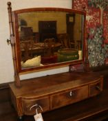 A Georgian mahogany toilet mirror, 52cm