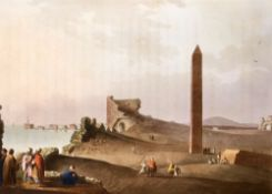 Mayer, Luigi - Views in Egypt, 1st edition, folio, diced calf, rebacked, with 48 hand-coloured