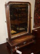 An early 18th century mahogany toilet mirror, Width 42cm