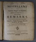 Reversby, Tamworth - A Miscellany of Ingenious Thoughts and Reflections, qto, calf, rebacked,