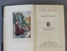 Bronte, Anne, Charlotte and Emily - Works, 6 vols, 8vo, half calf, illustrated by Edmund Dulac, J.M.