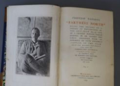 Nansen, Fridtjof - Farthest North, 1st edition, 2 vols, 8vo, halfcalf, 16 chromolithograph plates