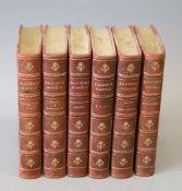 Austen, Jane - Works 'The Novel's, 6 vols, illustrated by Charles Brock, 8vo, half calf, J.M.