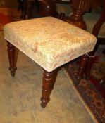A Georgian mahogany dressing stool, a.f.